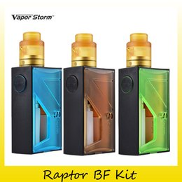 Wholesale nebulizer online shopping - Authentic Vapor Storm Raptor BF Squonker Kit with ml Bottom Sqounk Box Mods For Original RDA Nebulizer Tank Genuine