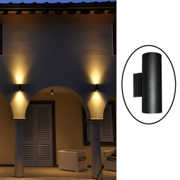 Up Down Contemporary Outdoor Wall Lamp Bridgelux 6W 10W 14W 20W 30W COB LED  Wall Light IP65 Exterior Lighting AC85 265V Input Exterior Up Down Lights  On ...