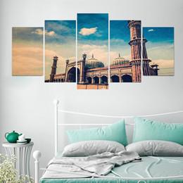 $enCountryForm.capitalKeyWord NZ - Hot 5pcs set 3D Vivid Effect Castle Landscape Combination Wall Sticker Vinyl Art Decals Poster Mural Living Room Bedroom Home Decoration