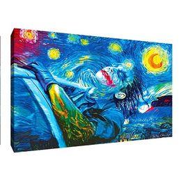 $enCountryForm.capitalKeyWord UK - Van Gogh Starry Night Joker,Handpainted  HD Print Modern Abstract Wall Art Oil Painting on Canvas Home Decor Multi Sizes  Frame Options Vg29