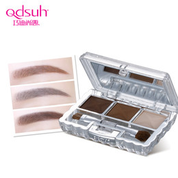 Eyebrow Shadow Powder NZ - 3 Color Eyebrow Powder Palette Cosmetic Brand Eye Brow Enhancer Professional Waterproof Makeup Eye Shadow With Brush Mirror Box