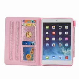 Apple Pen For Ipad Canada - Glitter Magnet Shell Auto Sleep Wake PU Leather Cover Case For Apple ipad mini 1 2 3 4 Tablet Case Smart Cover+Stylus Pen+Film.