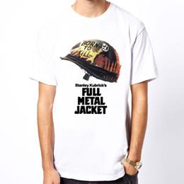 Vietnam White NZ - 2018 Streetwear Short Sleeve Tees Full Metal Jacket Vietnam film Kubrick movie men white t-shirt Hip-Hop Casual Clothing