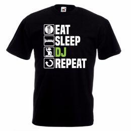 Music Man T Shirt Australia - Eat Sleep Dj T-Shirt Funny Music Ibiza Rave Dance Christmas Birthday Gift Men 2018 Summer Round Neck Men's T Shirt