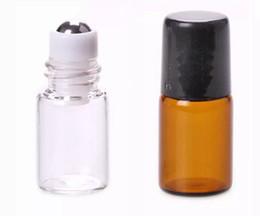 $enCountryForm.capitalKeyWord NZ - Mini Empty Amber Roll-On Glass Bottle Metal Roller Ball Bottle Essential Oil Vials Perfume Liquid fragrance Small Sample Bottle