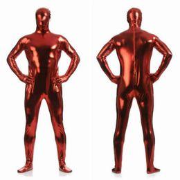 $enCountryForm.capitalKeyWord NZ - Adult Lycra Full Body Zentai Suit Custome For Halloween Men Second Skin Tight Spandex