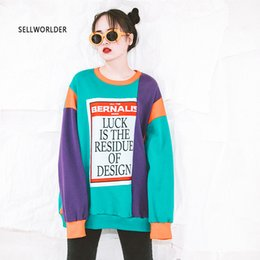 $enCountryForm.capitalKeyWord NZ - Autumn long-sleeved pullover 2018 Winter Mix color new women letter print hoodie
