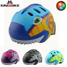 $enCountryForm.capitalKeyWord NZ - KINGBIKE Cycling Helmet 2018 Child Bike Helmets Safe Light Helmets Road MTB Bicycle Helmet Kids Cartoon 4 Colors 48-52cm Cascos