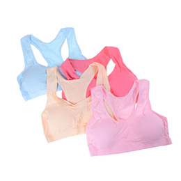 Wholesale 1PC sporty Girls Bras Solid Color Young Girls Underwear For Sport Wireless Small Training Puberty Bras Undergarment Clothes