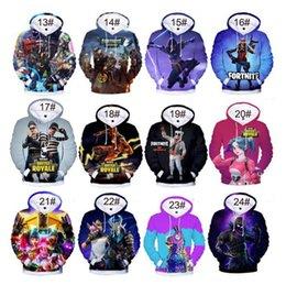 40 цветов игры Fortnite 3D балахон Battle Royale печати толстовка Мужчины Женщины с капюшоном пуловер две недели хип-хоп толстовки осень верхняя одежда 4XL