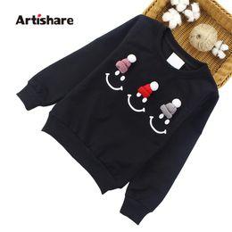 Artishare Girls Tops Long Sleeve Cartoon T-shirts Girls Spring Autumn Teenage  Kids Sweatshirt 2 8 9 10 12 Years a513d1069dc9
