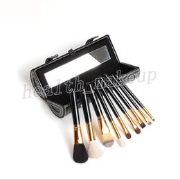 professional makeup foundation palette Australia - Top Quality M Brands Makeup Brush 9 Pieces Sets Professional Face Eyes Palette Foundation Making Up Brushes Kit + Free Cosmetics Bag DHL