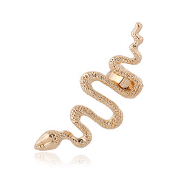 gold leaves Canada - Snake-shaped zodiac Left Right Silver Gold Earring Clip Ear Cuffs Earring Jewelry FY013