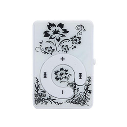 Chinese  HOT SALE fashion Mini Clip Flower Pattern MP3 Player Music Media Support Micro SD TF Card Slick stylish design Sport Compact manufacturers