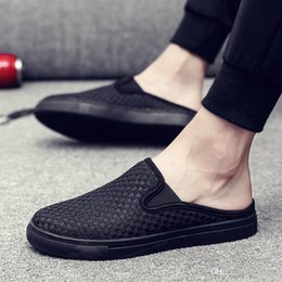 $enCountryForm.capitalKeyWord NZ - 2018 Designer Sandals Classic kicks mule half slippers White black men outdoor shoes Slippers Designer Shoes Summer Beach Flip Flops