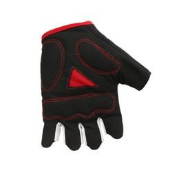 Gloves bicycle black online shopping - Bicycle Sports Gloves Equipment Semi Finger Mountain Bike Skull Shock Absorption Non Slip Superfine Fiber Cycling Glove rg jj