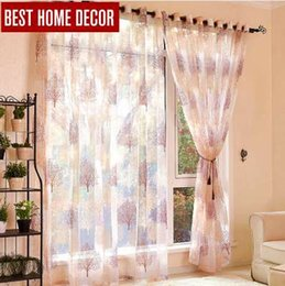 fixing blinds Canada - Best home decor finished sheer window curtains for living room the bedroom modern burnout tulle curtains window Curtain treatment blinds