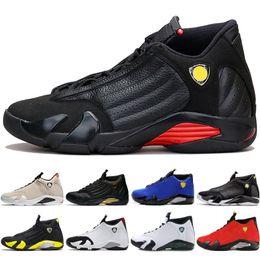 $enCountryForm.capitalKeyWord Canada - 14 14s mens Basketball Shoes Desert Sand DMP Last Shot Indiglo Thunder Blue Suede Oxidized Black Toe men Sports Sneakers trainers designer