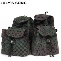 new songs 2018 - JULY'S SONG 2018 New PU Small Bag Women Leisure Backpack Geometric Rhombic Colorful Fashion Outdoor Travel Backpack