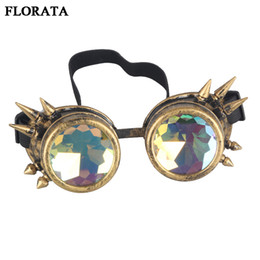 2efcdb222e Retro Unisex Goggles Steampunk Glasses Welding Cosplay Sunglasses Vintage  Victorian Eyewear 5 Colors
