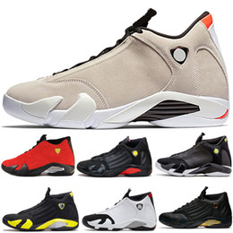 Candies sneakers online shopping - New s Desert Sand Black Toe Fusion Varsity Red Suede Thunder Men Basketball Shoes Cool Grey DMP Candy Cane Sneakers