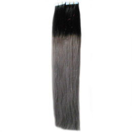 ash blonde hair 2019 - 11 Colors Optional Grey Apply Skin Weft Tape Hair 100g 40pcs Ombre Tape Hair Extensions ash blonde hair extensions tape