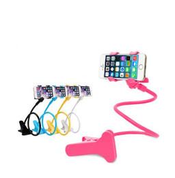 lazy arm phone holder 2018 - Car Phone holder Universal Long Arm Lazy Mobile Phone Gooseneck Stand Holder Flexible Bed Desk Table Clip Bracket For ip