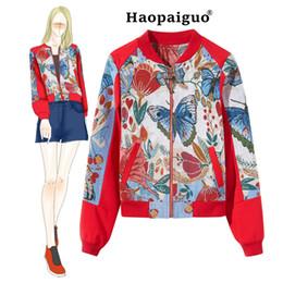 44181a2523d Discount women butterfly print coat - Plus Size Women Print Jackets 2018  Winter Causal Windbreaker Women