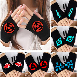 Anime One Piece Monkey D Luffy Half Finger Cotton Knitting Wrist Gloves Mitten Lovers Anime Accessories Cosplay Gloves Fashion Boys Costume Accessories
