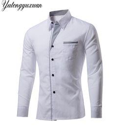 $enCountryForm.capitalKeyWord Canada - M-4XL Plus Size Top Sale Men's Luxury Shirts Stylish Casual Shirt Men Long Sleeve Slim Fit Shirt Wedding Dress Shirts Tops