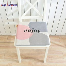 green office chairs Australia - Hot Sale 40x40x4cm Circle Letter Printing Soft Comfort Seat Mat Decor for Home Kitchen Office Chair Seat Cushion Pad FashionMove