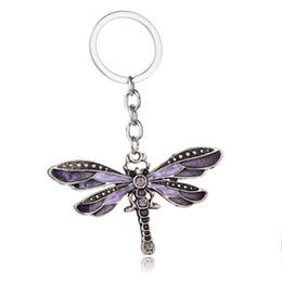 Fashion Crystal Butterfly Keychain Bohemia Dragonfly Pendants Keyring Women  Ladies Jewelry Gifts Animal Charms Key Chain Car Bags Keyfob 134a783f3