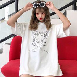 $enCountryForm.capitalKeyWord NZ - 2018 summer new women's wear, jacket, line, portrait, loose, medium long, short sleeved T-shirt girl.