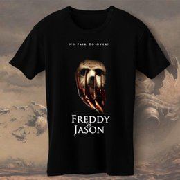 $enCountryForm.capitalKeyWord NZ - Cool T Shirt Companies Freddy Krueger Vs Jason No Fair Do Over S M L Xl 2Xl-4Xl Crew Neck Men Short Sleeve Compression T Shirts