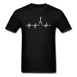 Bass guitar red Black online shopping - Bass Guitar Heartbeat T Shirt Hip Hop Men T Shirt Unique Design Clothing Cotton Tops Dj Black Tee Fashion Band Tshirt