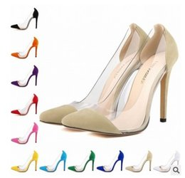 $enCountryForm.capitalKeyWord NZ - high heel pointed toe large size black yellow beige red green purple blue color 35-42 women dress shoes 472