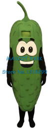 Discount vegetable fancy dress - high quality green pickle vegetable cartoon mascot costumes adult size pickle theme anime costumes carnival fancy dress