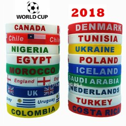 c961e28898a1 Pulseras de Silicona Deporte Copa Mundial de Fútbol Pulsera Bandera  Holograma Bandas de Muñeca Correa de Baloncesto Brazalete Regalo de  Recuerdo 2018   S