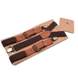 Metal clip garter belts online shopping - 3 Clips Leather Elastic Braces Men Wedding Shirt Stay Locking Clamps Metal Buckle Suspenders Adjustable Strap Garter Holder Belt