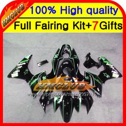 Cbr125 Fairing Australia - Body Green line For CBR125R 02-06 CBR125 R 02 03 04 05 06 10HM29 Green black CBR 125R 2002 2003 2004 2005 2006 Fairing