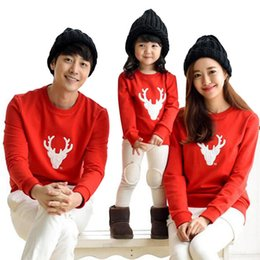 1c136f248 2017 Spring Autumn Family Matching Outfits Father Son Christmas Shirts  Mother Daughter Dad Boy Casual Cotton Long Sleeve T-shirt