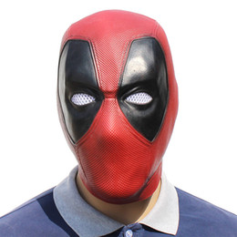 latex celebrity face mask NZ - Superhero Movie Latex Mask Deadpool 2 Marvel Deadpool Masks Full Face Halloween Mask Latex Adult Scary Party Masks Cosplay Toy Props 5PCS