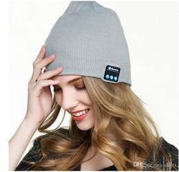 Beanies For Winter Australia - Beanie Hat Bluetooth Headphones Washable Winter Knit Cap with Stereo Bluetooth Headset Earphones Speakers & Mic for iPhone Samsung Android