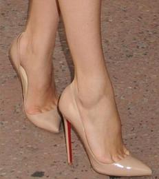 2018 Frauen Schwarz Schaffell Nude Lackleder Pointed Toe Frauen Pumpen, 120mm Mode lRed Bottom High Heels Schuhe für Frauen Hochzeit Schuhe
