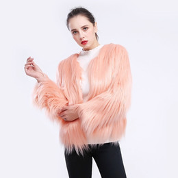 Ladies imitation fur coats online shopping - women wool fur coat jacket short sleeved large size fur imitation jacket coat for women ladies thick outerwear