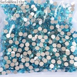 $enCountryForm.capitalKeyWord UK - SS16-SS20Aquamarine Rhinestones Back Flat Round Nail Art Decorations And Stones Non Hotfix Rhinestones Crystals for DIY Glass