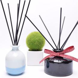Stick Diffuser NZ - New 50Pcs Black Fragrance Oil Diffuser Rattan Reed Replacement Stick Home Decor Set