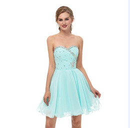 custom short gown UK - 2018 New chiffon In Stock Short Homecoming Dresses under 60 Real Photos Sweetheart mini short Prom Party Gowns 8th Graduation Dress 16670