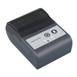 mini bluetooth barcode UK - Bluetooth 58mm Portable Thermal Printer with USB interface Mini size cheap price support android and IOS HS-591AI