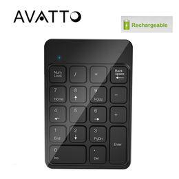 $enCountryForm.capitalKeyWord Australia - [AVATTO] Rechargeable 2.4G Wireless USB Numeric Keypad Numpad Number 18 keys Pad Chocolate Keyboard for Laptop Desktop PC